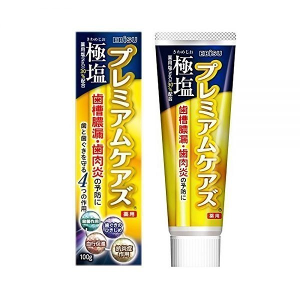 EBISU Premium Salt Toothpaste with Yuzu Mint - 100g