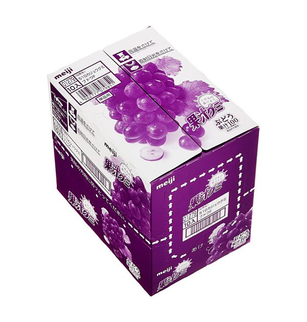 MEIJI Fruit Gumi Gummy Candy Grapes - 51g x 10pcs