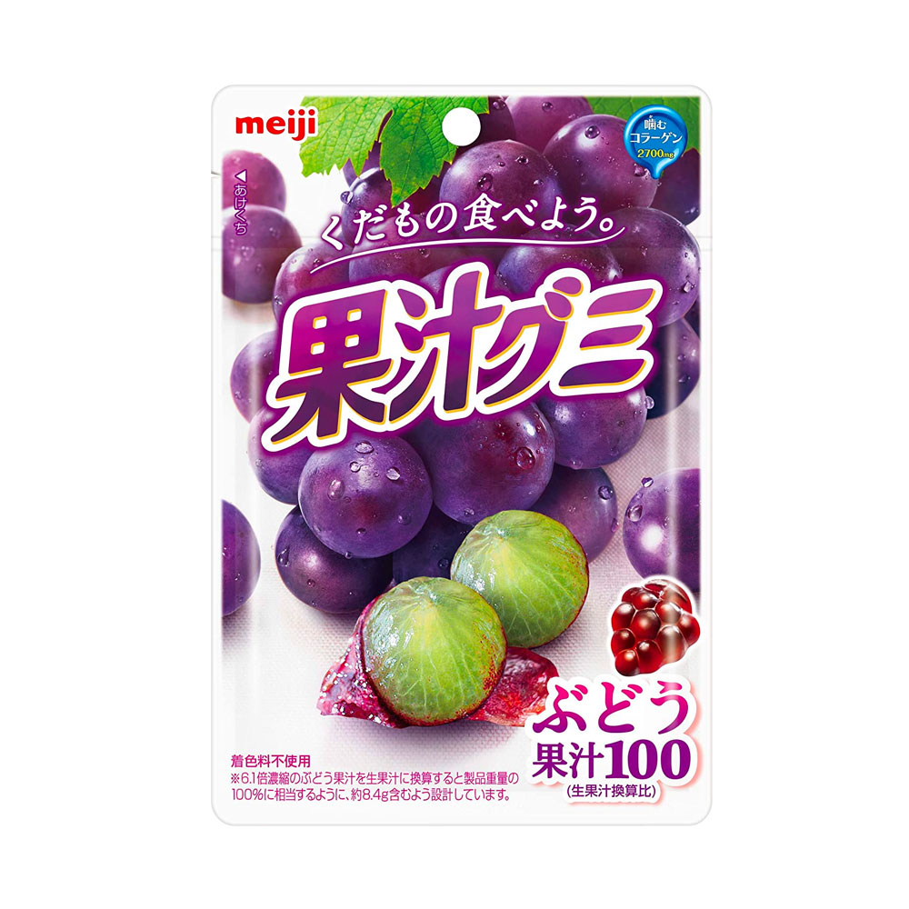 MEIJI Fruit Gumi Gummy Candy Grapes - 51g x 10pcs