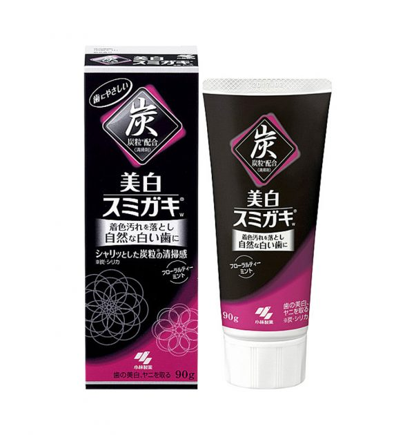 SUMIGAKI Charcoal Toothpaste with Charcoal Grain - White Beauty 90g