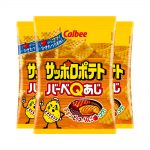 CALBEE Sapporo Potato BBQ with Chicken and Beef 3 x 85g - Made in Japan
