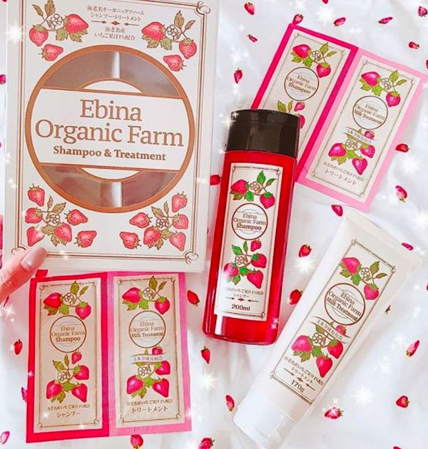 EBINA Organic Farm Strawberry Shampoo Made in Japan