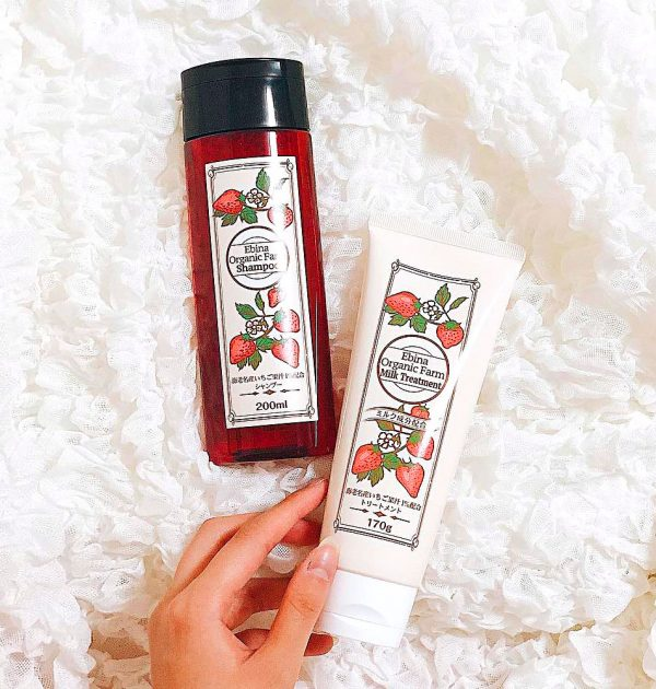 EBINA Organic Farm Strawberry Shampoo Made in Japan