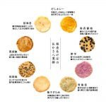 GINZA AKEBONO Rice Cracker Nijushisetsu Flower Made in Japan