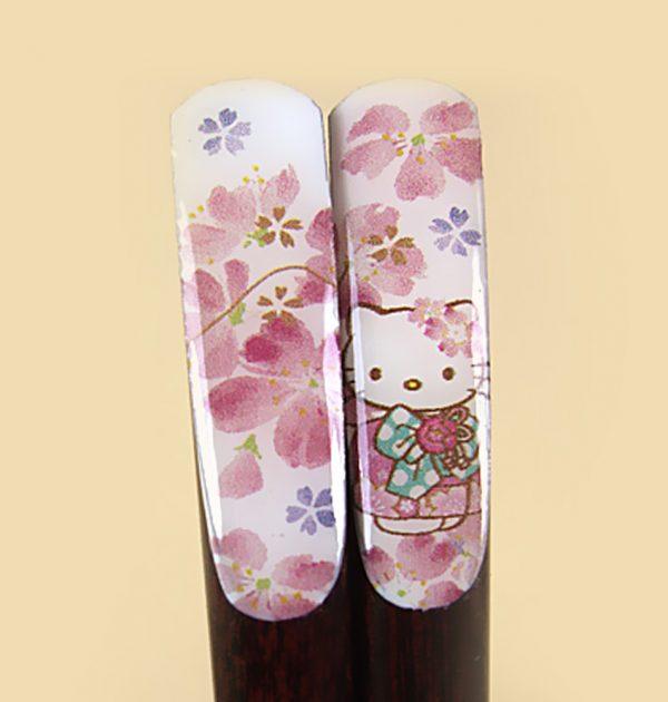 HELLO KITTY Sakura Kimono Hana Festival Set Bowl Cup Chopsticks