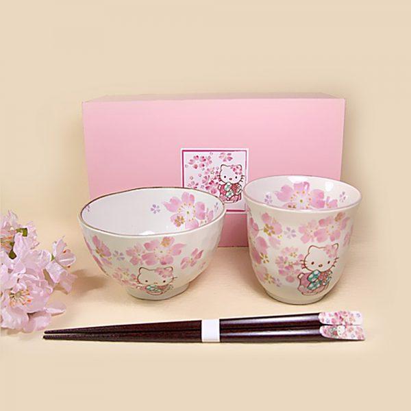 HELLO KITTY Sakura Kimono Hana Festival - Teapot, Cup & Chopsticks