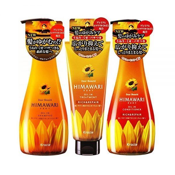 KRACIE Himawari Dear Beaute Oil in Shampoo + Conditioner + Treatment - Rich & Repair