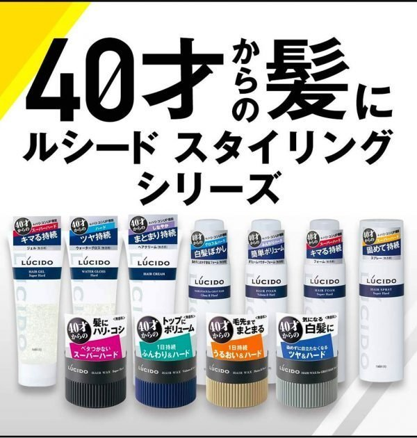 MANDOM Lucido Hair Wax Volume & Hard Made in Japan