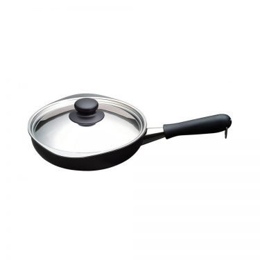 SORI YANAGI Iron Frying Pan with Lid - 18cm