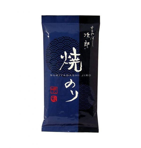 SUKIYABASHI JIRO Nori Dried Seaweed - Half-Cut 10 Sheets
