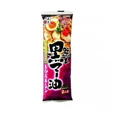 ITSUKI Black Ma Oil Tonkotsu Ramen with Straight Non-Fried Noodles - 2 Servings
