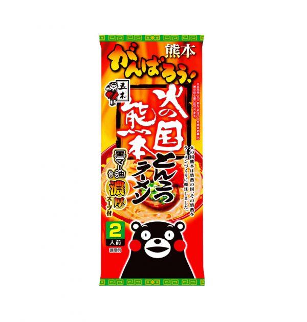 ITSUKI Fiery County Kumamoto Kumamon Tonkotsu Ramen with Ma Oil - 2 Servings 250g