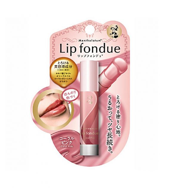 ROHTO Mentholatum Lip Fondue - Coral Pink 4.2g