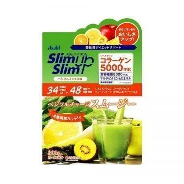 ASAHI Slim Up Slim Vegeful Charge with Collagen 5000mg - Mix Flavor 300g