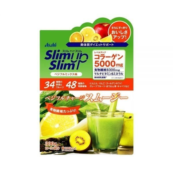 ASAHI Slim Up Slim Vegeful Charge with Collagen 5000mg - Mix Flavor 300g