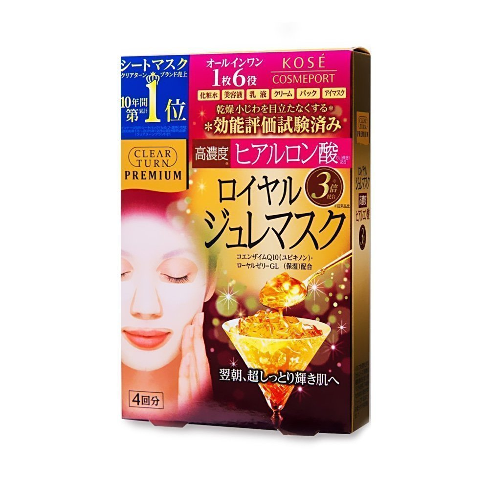 Kose Premium Clear Turn Jelly Face Mask Hyaluronic Acid