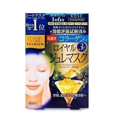 KOSE Premium Clear Turn Royal Jelly Face Mask Collagen