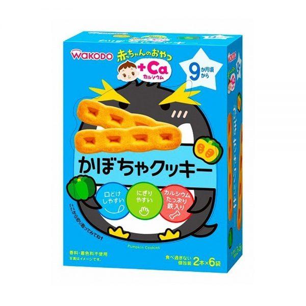WAKODO Baby Snack Ca Calcium Pumpkin Cookie from 9 Months - 2 Sticks x 6 in Box