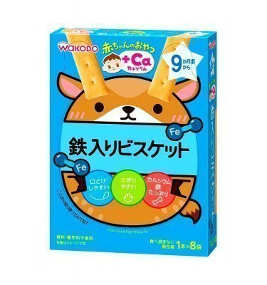 WAKODO Baby Snack Ca Iron Cookie from 9 Months - 1 Stick x 8 in Box