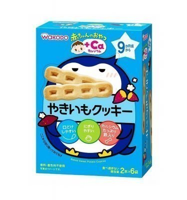 WAKODO Baby Snack Ca Sweet Potato Yakiimo Cookie from 9 Months - 2 Sticks x 6 in Box
