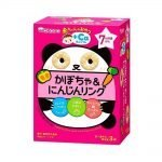 WAKODO Baby Snack Pumpkin & Carrot Ring Snack from 7 Months - 4g × 3 in Box