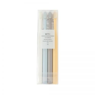 MUJI Flat Type Mat Toothbrush 4 Colour Set