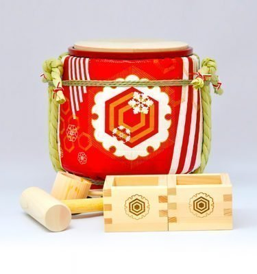 Mini Sake Barrel Handmade Kagami Biraki Party Set - Long Life