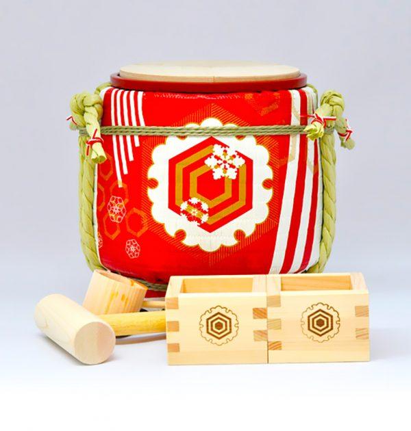 Mini Sake Barrel Handmade Kagami Biraki Party Set - Long Life