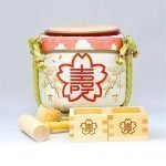 Mini Sake Barrel Handmade Kagami Biraki Party Set - Spring Sakura
