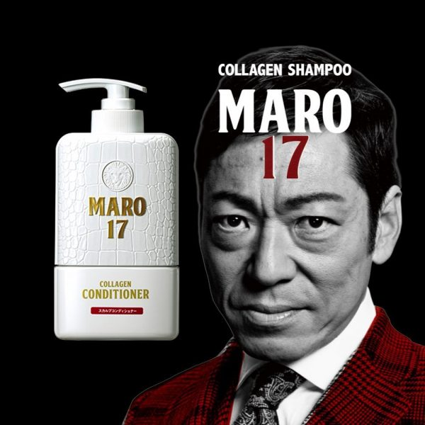 MARO 17 Collagen Shampoo Perfect Wash for Men Made in Japan