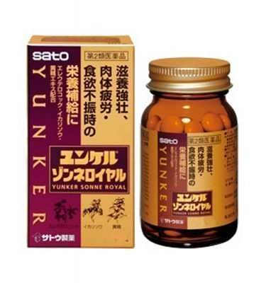 SATO Yunker Sonne Royal Revitalizer against Fatigue & Appetite Loss - 120 Tablets