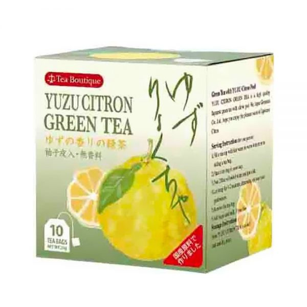 TEA BOUTIQUE Yuzu Citrus Green Tea - 2g × 10 Bags