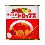 Sakumas Drops 75 grams Tin Can Made in Japan