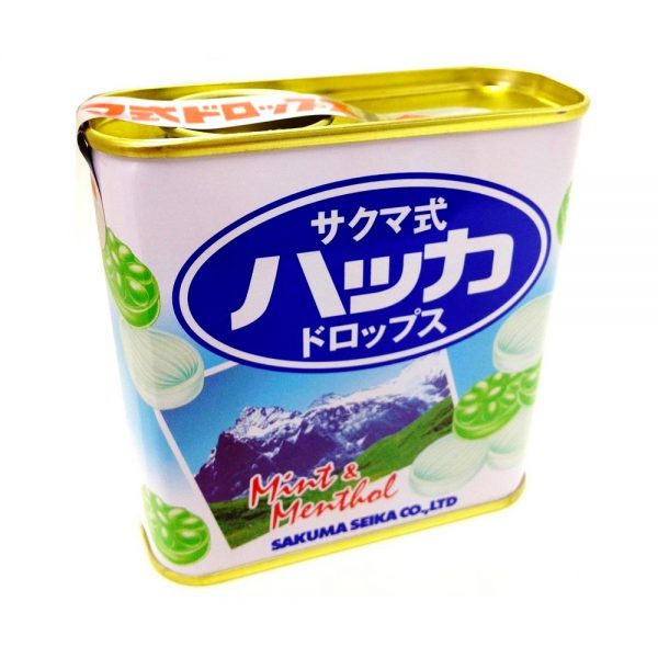 Sakumas Drops Mint & Menthol Tin Can Made in Japan