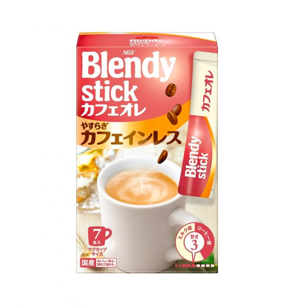 AGF BLENDY Cafe au lait Yasuragi Decaffeinated