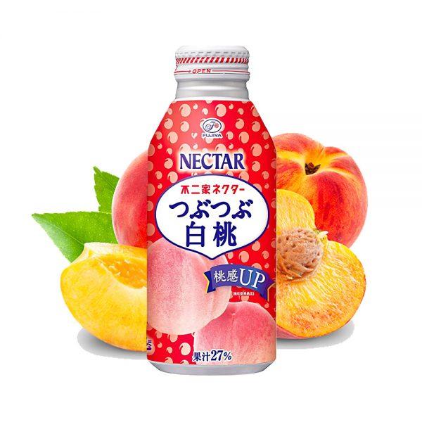 FUJIYA Nectar Peach Bottle 380ml Made in Japan
