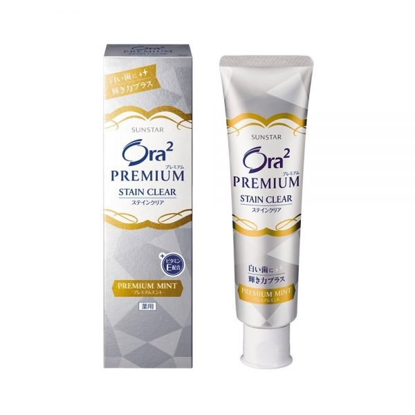Sunstar Ora2 Premium Stain Clear Toothpaste Tooth Care Premium Mint