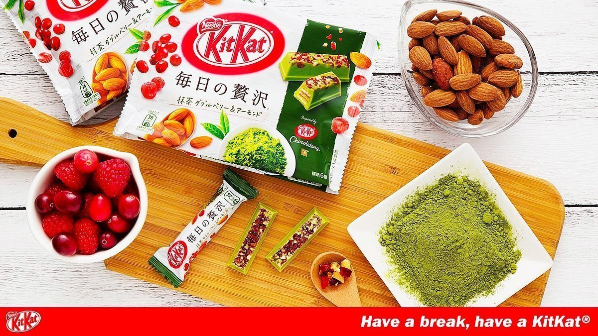 Kit Kat Matcha Chocolatory Bar with Cranberry & Almond