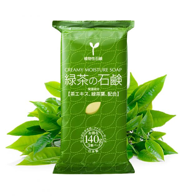 MASTER Green Tea 100% Vegetable-based Creamy Moisture Soap Made in Japan