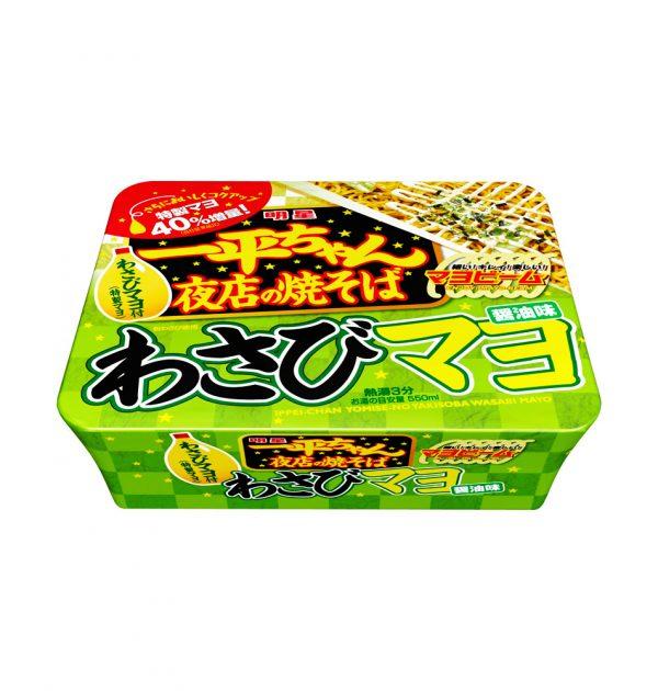 MYOJO Ippeichan Yakisoba Japanese Style Instant Noodles with Wasabi Mayonnaise Soy Sauce