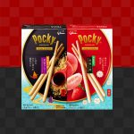 GLICO Pocky Brown Sugar Syrup and Roasted Soybean Flour Made in Japan