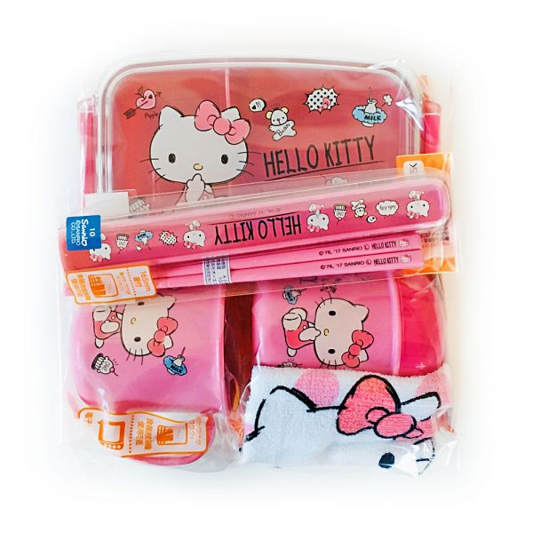 HELLO KITTY Complete Lunch Box Set Made in Japan