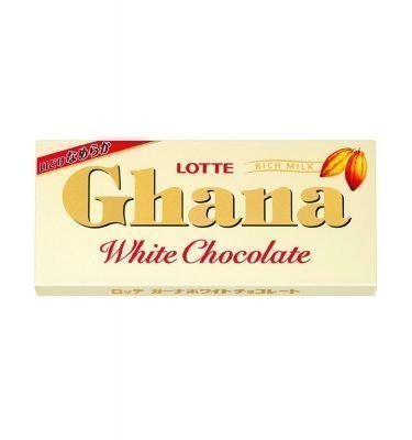 LOTTE Ghana White Milk Chocolate Bar Made in Japan