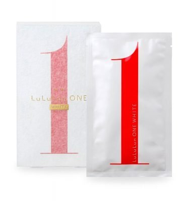 LULULUN One White Face Mask Made in Japan