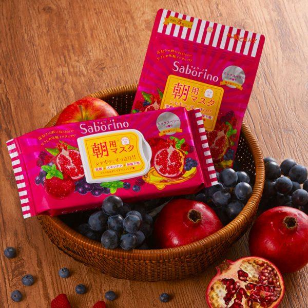 SABORINO Beauty Mask Mezamasheet Mix Berry Made in Japan