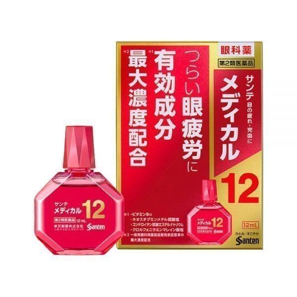 SANTEN Sante Medical 12 Eye Drop Made in Japan