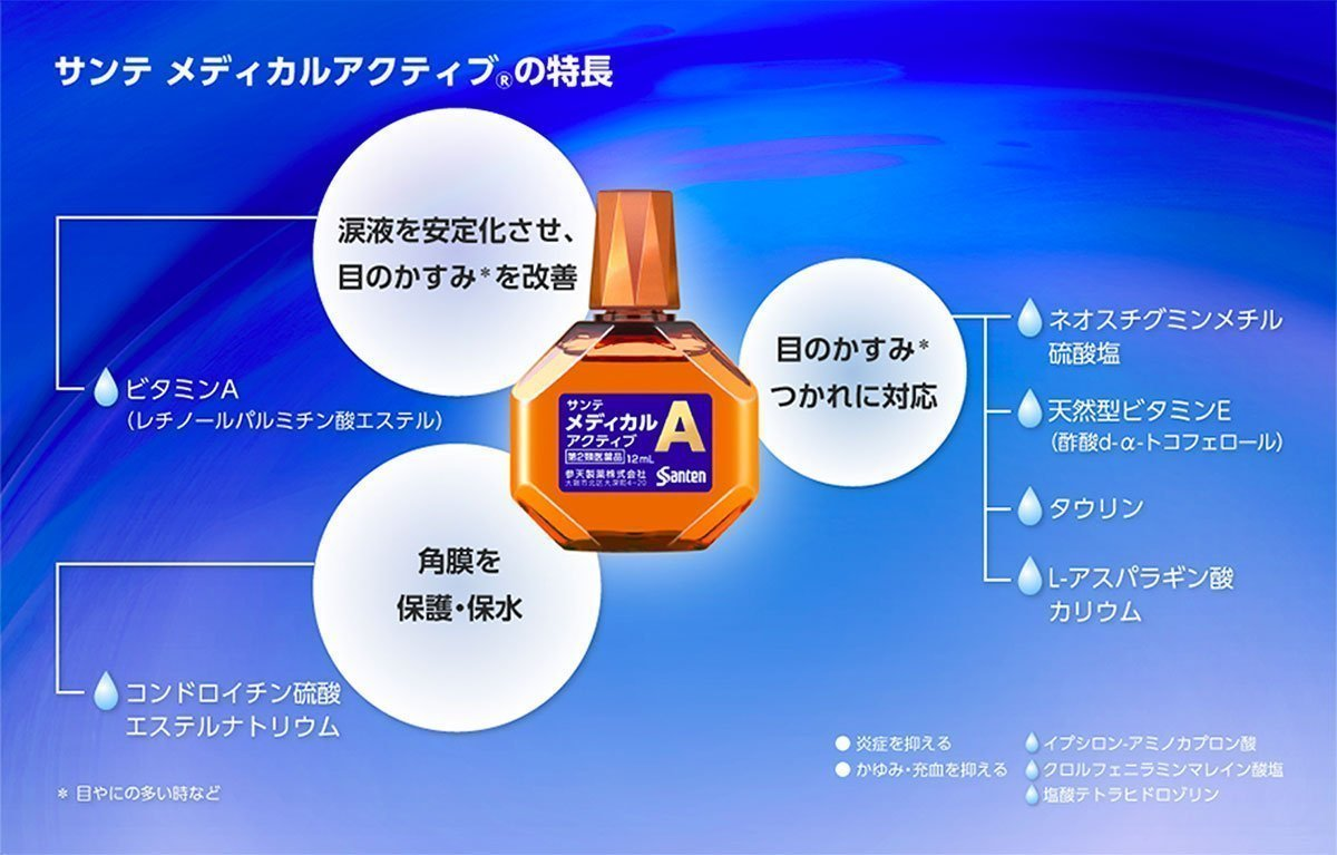 SANTEN Sante Active Type A Made in Japan