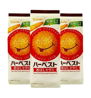 TOHATO Harvest Super Thin Appetising Sesame Biscuits Made in Japan