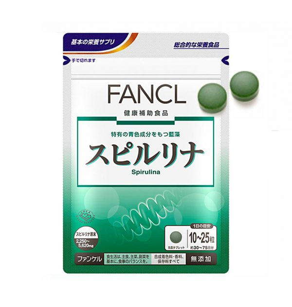 FANCL Spirulina 30-75 Days 750 Tablets Supplement Made in Japan