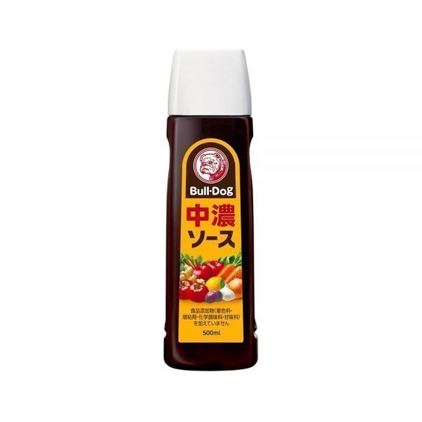 BullDog Vegetable & Fruit Semi-Sweet Tonkatsu Sauce 500ml Japanese Version Made in Japan